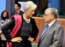 Lagarde in power stance.