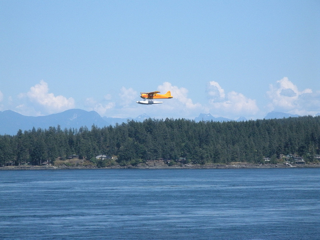 Plane over Discovery Passage